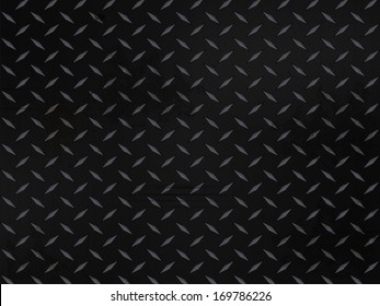 metallic diamond plate background with grunge