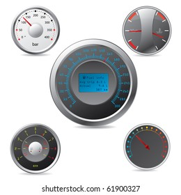 Metallic gauges set