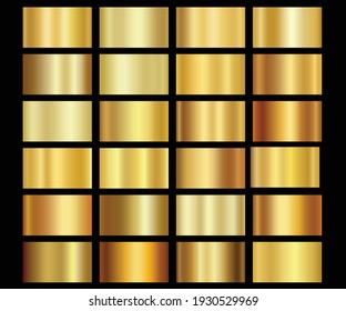 metallic gold gradients golden colour