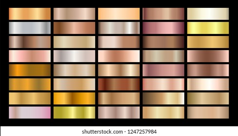 Metallic gradient collection for Wedding and Luxury design texture Vector