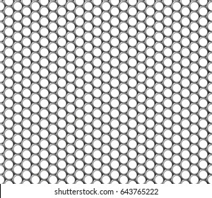 Metallic hexagonal grid realistic seamless Metal steel mesh grid vector pattern