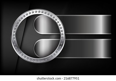 The metallic infographic elements on abstract background