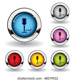 Metallic microphone button