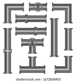 Metallic pipes vector design illustration isolated on white background