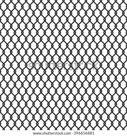 Metallic Wired Fence Seamless Pattern Isolated Stock Vector Royalty