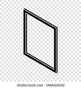 Metal-plastic window frame icon. Simple illustration of metal-plastic window frame vector icon for web