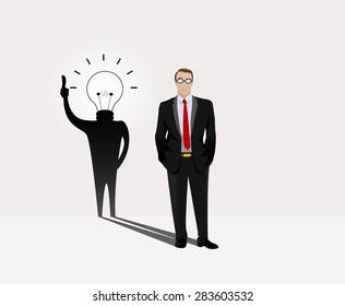 Metaphor for dedicated ideas, creativity. Vector