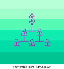 METAPHOR MEANING: Social pyramid as capitalist exploitation - inferior poor class of slaves and servants produce profit for superior wealthy and rich person with dollar. Vector illustration