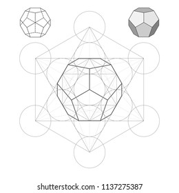 Metatron Cube the Dodecahedron