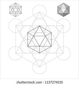 Metatron Cube the Icosahedron