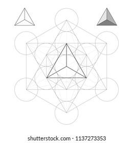 Metatron Cube the Tetrahedron