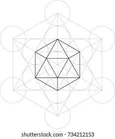 Metatron Cube-Icosahedron