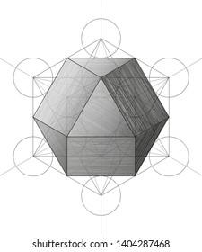 Metatron's Cube, Platonic Solids, Sacred Geometry, Tetrahedron, Hexahedron, Octahedron, Icosahedron, Dodecahedron, Star Tetrahedron, Cuboctahedron