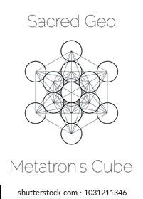 Metatron's Cube, Sacred Geometry Symbol