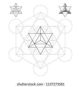Metatron's Cube the Star Tetrahedron