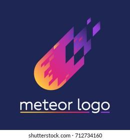Meteor logo on blue background
