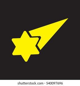 meteor, star, logo, icon, vector illustration EPS 10