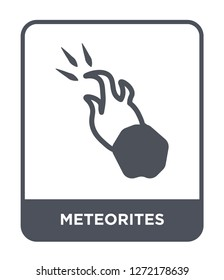 meteorites icon vector on white background, meteorites trendy filled icons from Astronomy collection, meteorites simple element illustration