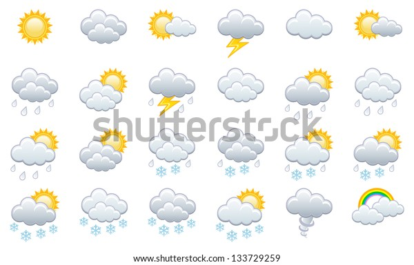 Meteorology icons set. Vector illustration.