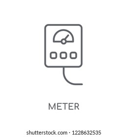 Meter linear icon. Modern outline Meter logo concept on white background from Smarthome collection. Suitable for use on web apps, mobile apps and print media.
