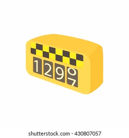 Meter taxi icon
