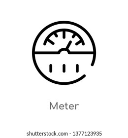 meter vector line icon. Simple element illustration. meter outline icon from smart house concept. Can be used for web and mobile