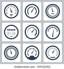 Meters vector icons set #2