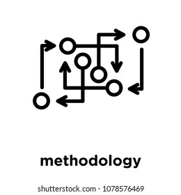 methodology icon isolated on white background, vector illustration