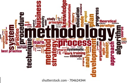 methodology word cloud concept. Vector illustration