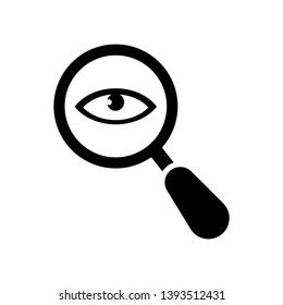 Meticulous Design Proofreading Icon. Investigate base icon. Simple sign illustration. investigate symbol design.