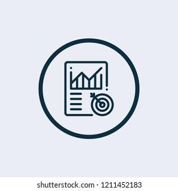 Metrics icon. Vector illustration
