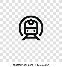 metro icon from miscellaneous collection for mobile concept and web apps icon. Transparent outline, thin line metro icon for website design and mobile, app development