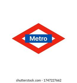 Metro logo sign isolated vector design