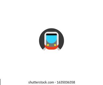 Metro vector flat icon. Isolated subway, underground emoji illustration
