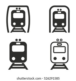 Metro vector icons set. Illustration isolated for graphic and web design.