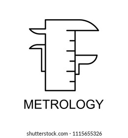 metrology line icon. Element of medicine icon with name for mobile concept and web apps. Thin line metrology icon can be used for web and mobile on white background