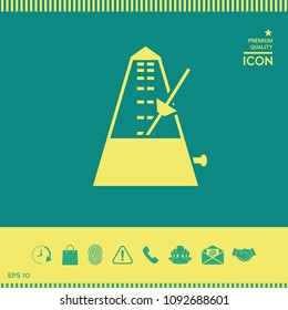 Metronome icon symbol