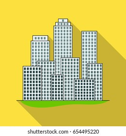 Metropolis.Realtor single icon in flat style vector symbol stock illustration web.