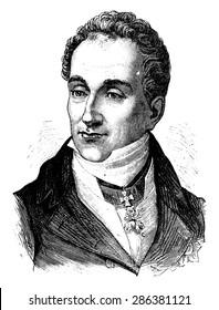 Metternich, vintage engraved illustration. History of France - 1885.