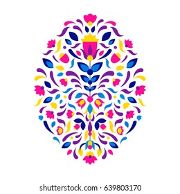 Mexican and African tribal ornament. Aztec embroidery. Ethnic print for design, fashion, clothes, embroidery, banners, posters, cards, backgrounds. Vector illustration.