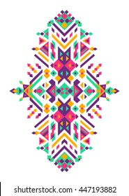Mexican and African tribal ornament. Ethnic print for design, fashion, clothes, embroidery, banners, posters, cards, backgrounds. Vector illustration.