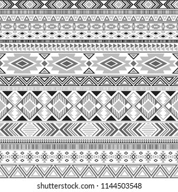 Mexican american indian pattern tribal ethnic motifs geometric vector background. Vintage native american tribal motifs textile print ethnic traditional design. Mexican folk fashion.