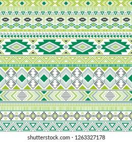 Mexican american indian pattern tribal ethnic motifs geometric vector background. Unusual native american tribal motifs textile print ethnic traditional design. Mexican folk fashion.