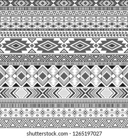 Mexican american indian pattern tribal ethnic motifs geometric vector background. Eclectic native american tribal motifs textile print ethnic traditional design. Mexican folk fashion.