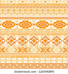 Mexican american indian pattern tribal ethnic motifs geometric vector background. Abstract native american tribal motifs clothing fabric ethnic traditional design. Aztec symbol fabric print.