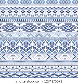 Mexican american indian pattern tribal ethnic motifs geometric vector background. Cool native american tribal motifs clothing fabric ethnic traditional design. Aztec symbol fabric print.