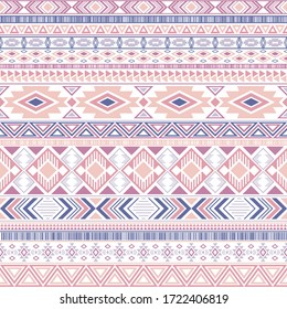 Mexican american indian pattern tribal ethnic motifs geometric seamless background. Abstract native american tribal motifs clothing fabric ethnic traditional design. Aztec symbol fabric print.