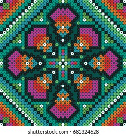 Mexican art pattern