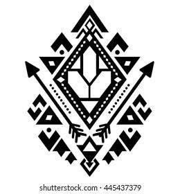 Tribal logo stock images royalty free images vectors for Aztec tattoo shop phoenix az
