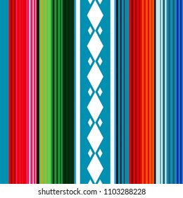 "Mexican Blanket Pattern, Background for ""Cinco de Mayo"" Party"